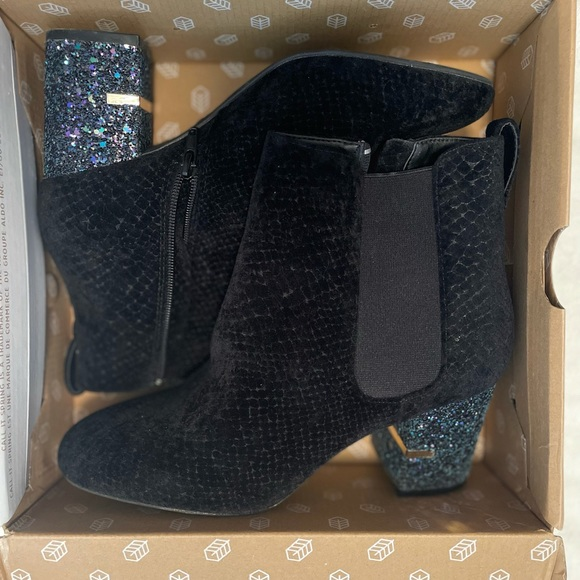 Call it spring, size 9 black booties.